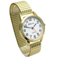 Ravel Men's Super-Clear Quartz Watch with Expanding Bracelet Gold #41 R0232.12.1